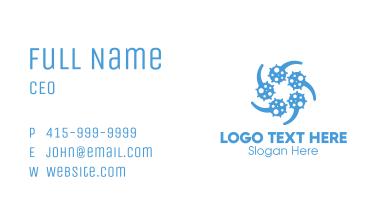 Blue Virus Particles Transmission Business Card
