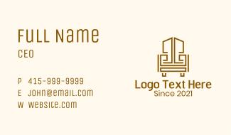 Geometric Wooden Armchair Business Card