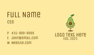 Avocado Podcast App Business Card