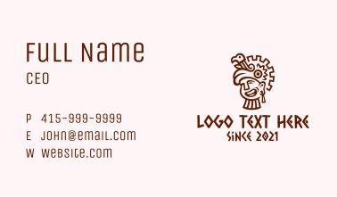 Mayan Man Bird Headdress Business Card