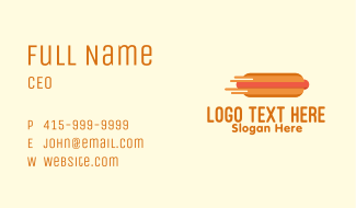Fast Hot Dog Stand Business Card