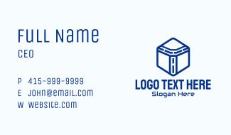 Hexagon Digital Letter T Business Card