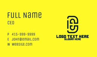 Modern D & E Business Card