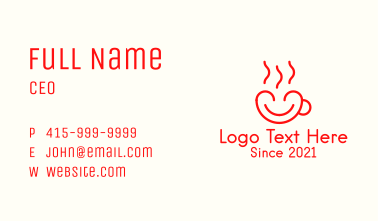 Warm Heart Cup Business Card