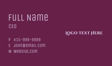 Lilac Wordmark Business Card