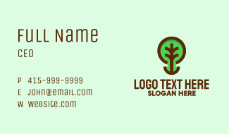 Modern Natural Tree Business Card