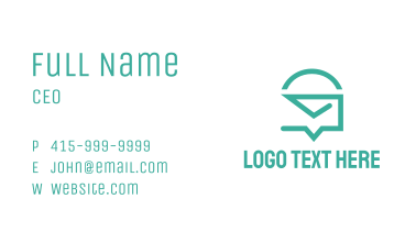 Mail Chat Business Card