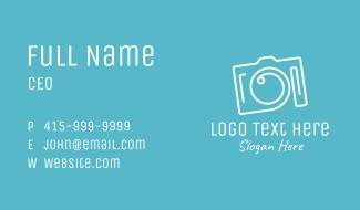 Fancy Camera Monoline Business Card