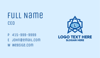 Science Lab Shield Business Card