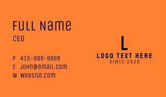 Minimalist Business Letter M Business Card