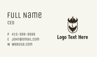 Viking Helmet Letter Business Card