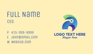 Modern Tech Parrot Business Card