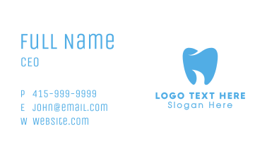 Abstract Blue Dentist Dental Tooth Business Card