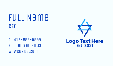 Interlinked Triangle Business Card
