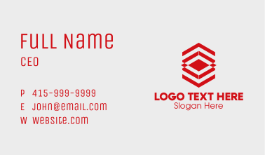 Red Textile Pattern Business Card