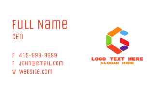 Colorful G Shape Business Card