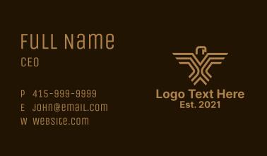Brown Geometric Eagle Business Card