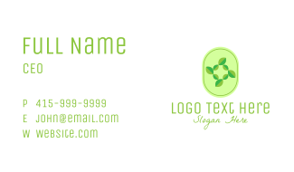 Green Natural Leaves Business Card