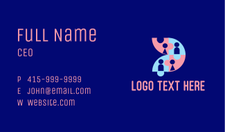 Nursery Toddler Puzzle Business Card