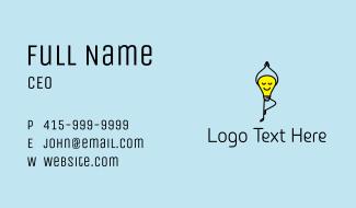Yoga Lightbulb Mascot Business Card