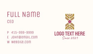 Jewel Hourglass  Business Card