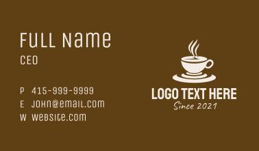 Clock Coffee Drink Business Card
