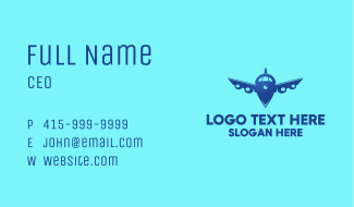 Airplane Navigation Business Card