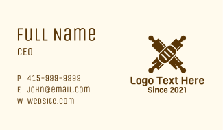 Rolling Pin Oven Bakery  Business Card