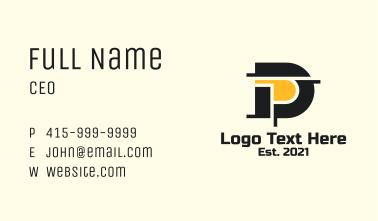 Letter D Construction Business Card