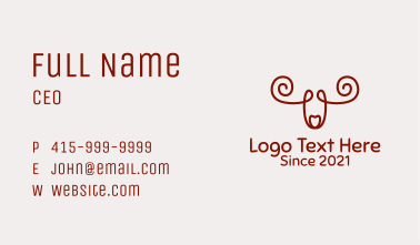 Brown Moose Outline  Business Card