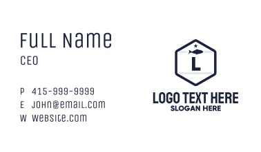 Fish Hexagon Letter Business Card