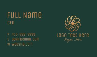 Bronze Luxury Ornament Business Card
