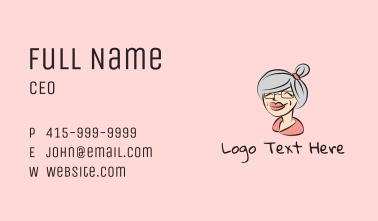 Cute Grandma Character Business Card