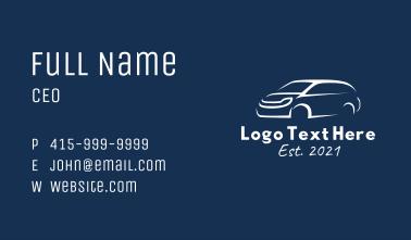 White Van Car  Business Card