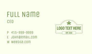 Leaf Signage Wordmark Business Card