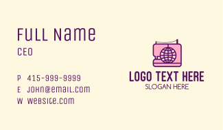 Global Sewing Company Business Card