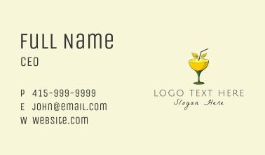 Lemon Cocktail Business Card