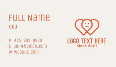 Red Hearts Location Business Card