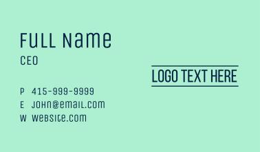 Line Text Wordmark Business Card