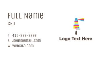 Ink Lighthouse Paint Business Card