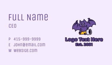 Bat Flashlight Mascot Business Card