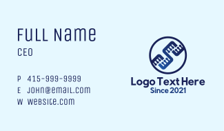 Electronic Circuit Badge Business Card