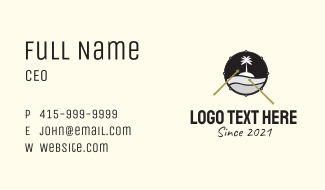 Island Snare Drum Business Card
