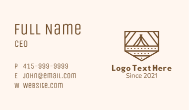 Outdoor Camping Badge Business Card