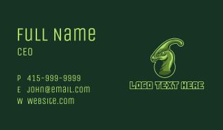 Green Dinosaur Mascot  Business Card