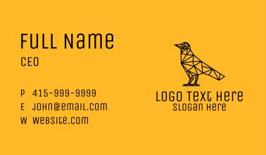 Simple Bird Line Art Business Card
