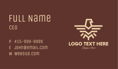 Brown Tribal Eagle Business Card