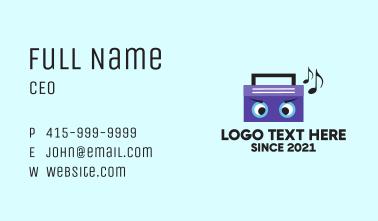 Radio Music Mascot Business Card