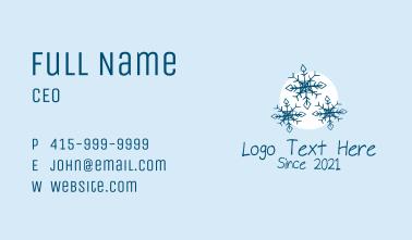 Snowflake Glacier  Business Card