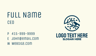 Blue Sparrow Branch Badge Business Card